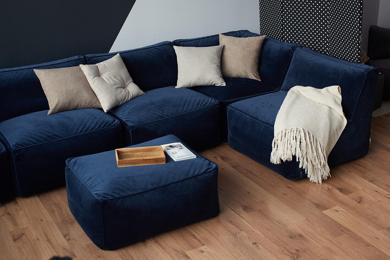 Фото модульного бескаркасного дивана
