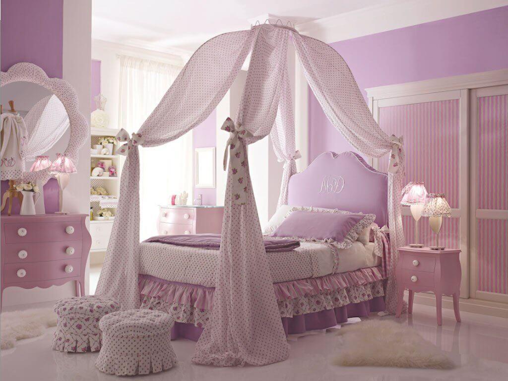 Фото детской кровати с балдахином