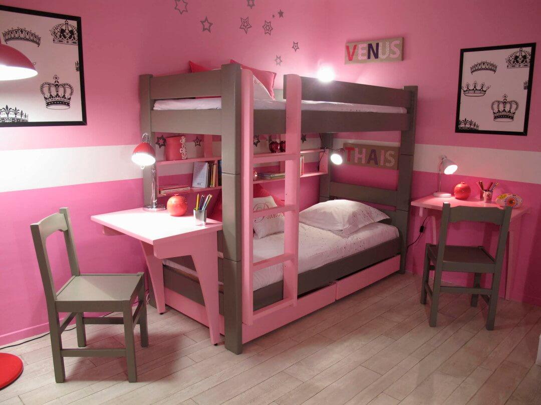 Двухъярусная детская кровать со столом