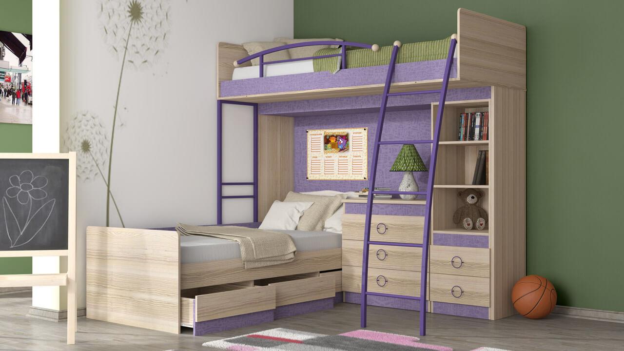 Фото двухэтажной кровати для подростков