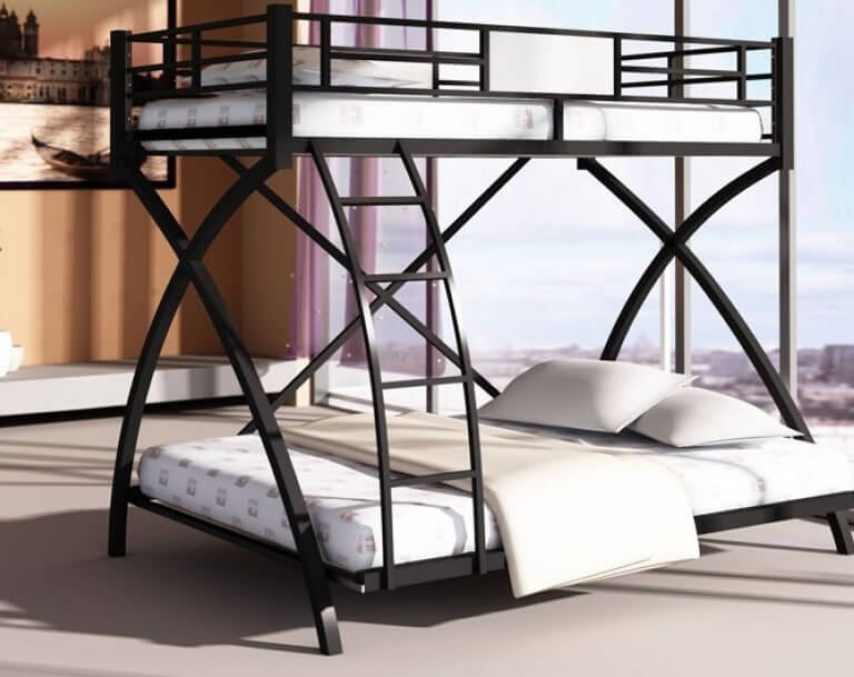 Фото двухъярусной кровати для взрослых