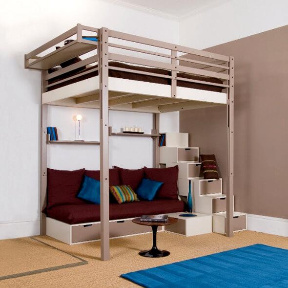 Кровать чердак с диваном для подростка