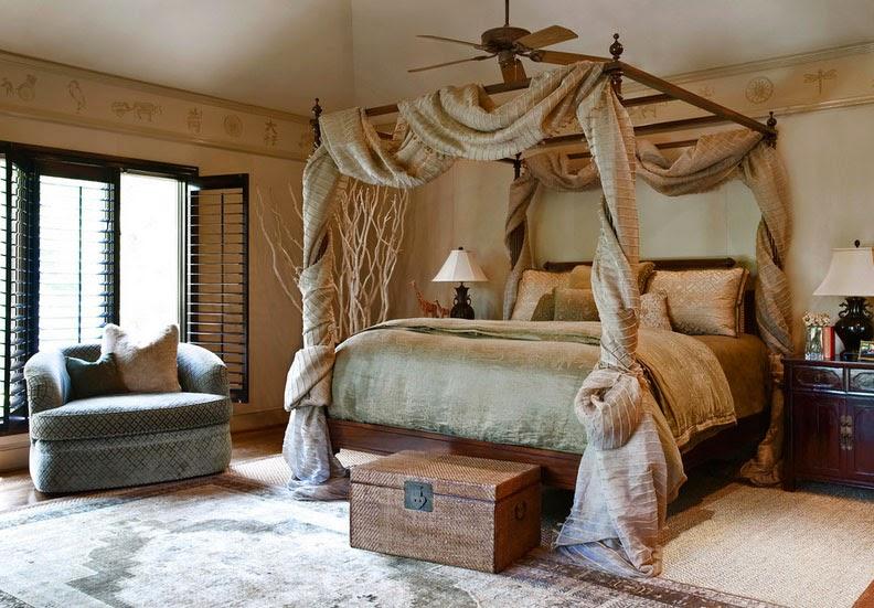 Фото кровати с плотным балдахином