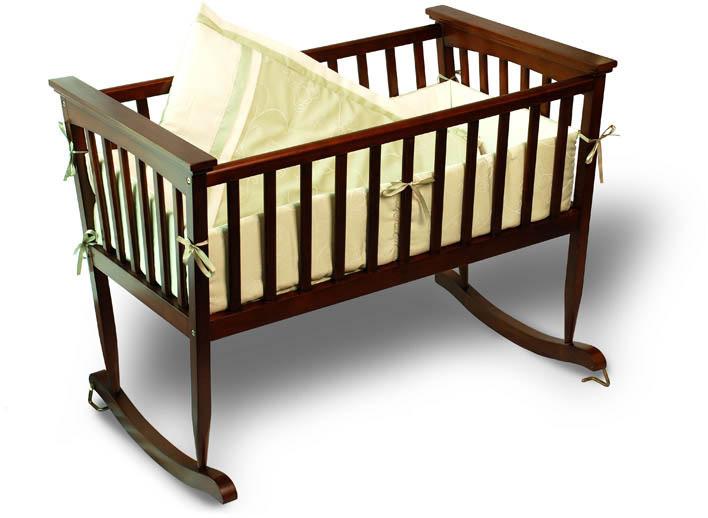 Люлька-качалка для новорожденного на полозьях
