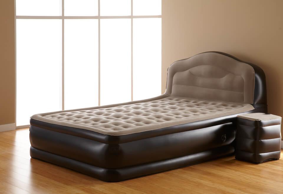 Надувная кровать с изголовьем