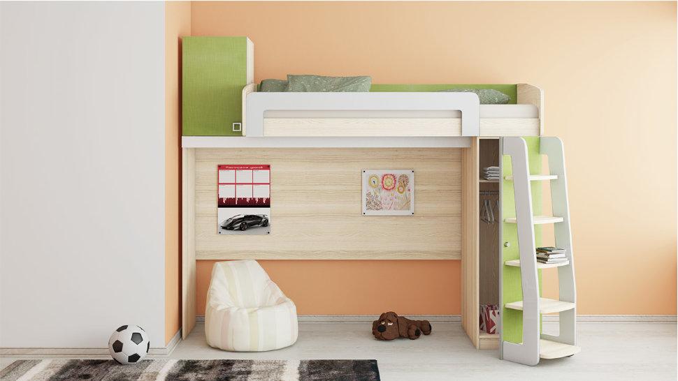 Низкая кровать-чердак для детей