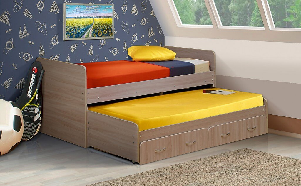 Выдвижная кровать матрешка
