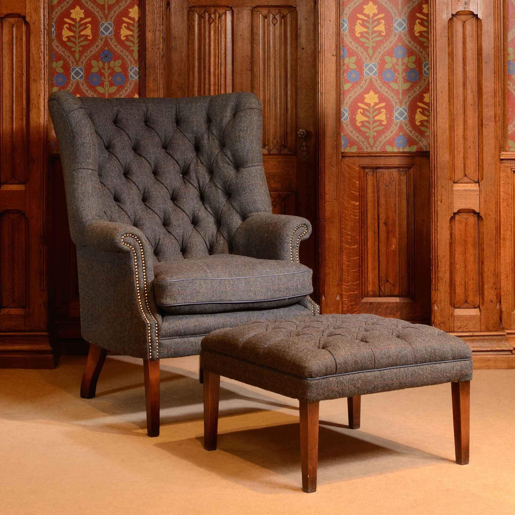Фото английского каминного кресла