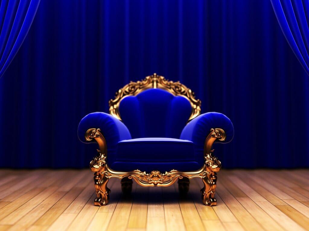 Низкое кресло трон