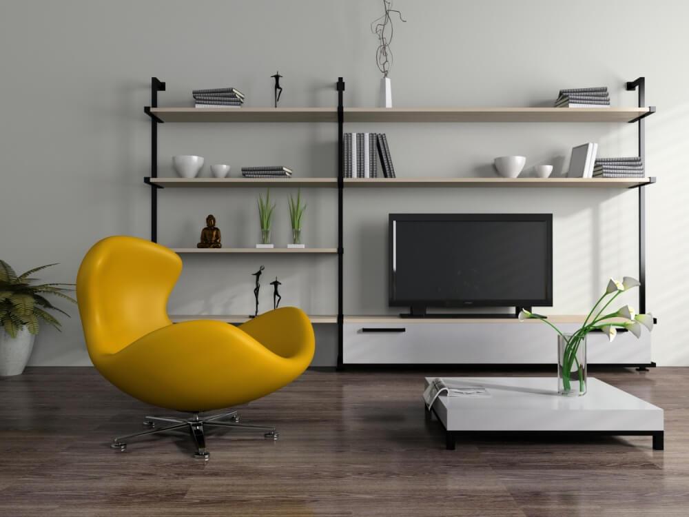Стильное кресло в гостиной