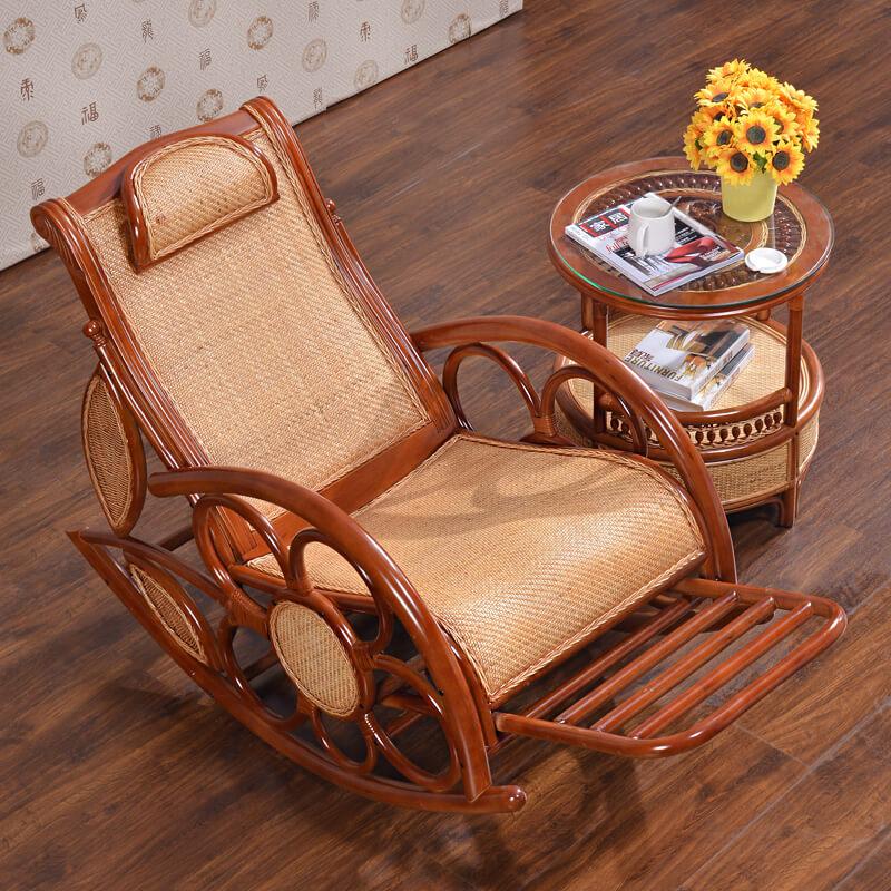 Плетеное кресло качалка