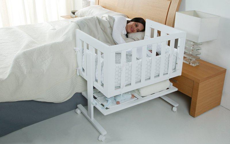 Фото приставной кроватки для новорожденных