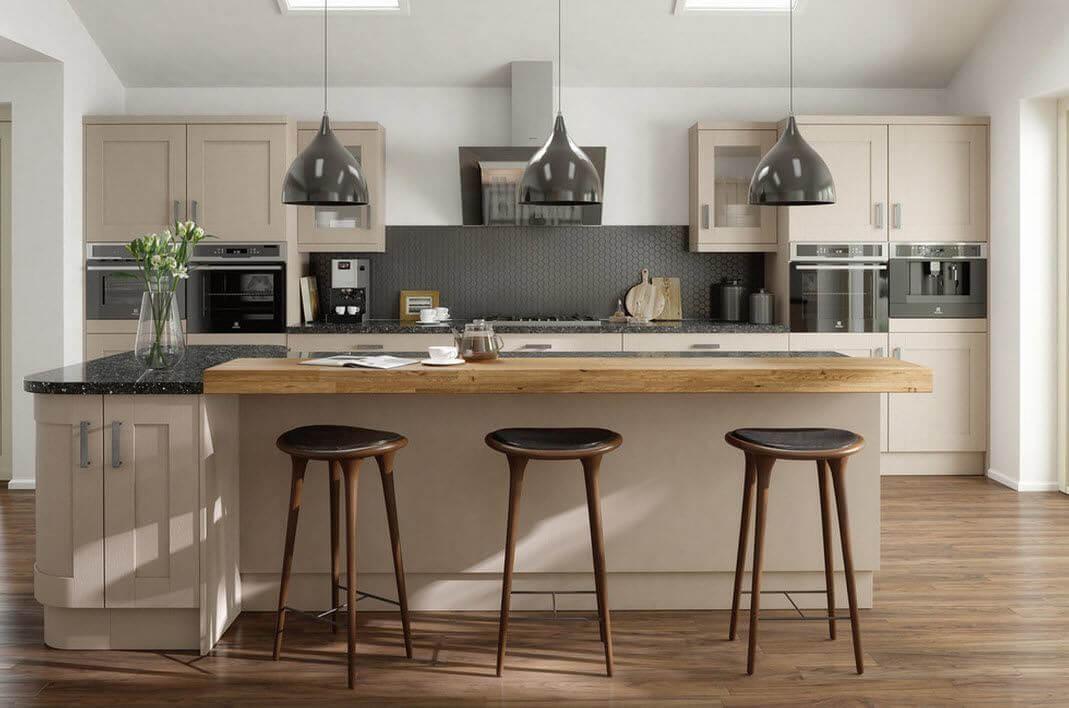 фото барных табуретов в интерьере кухни