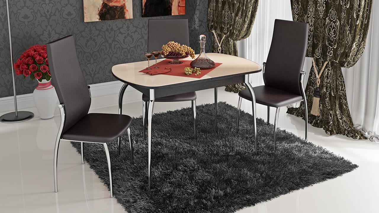 хромированные стулья с мягким сидением