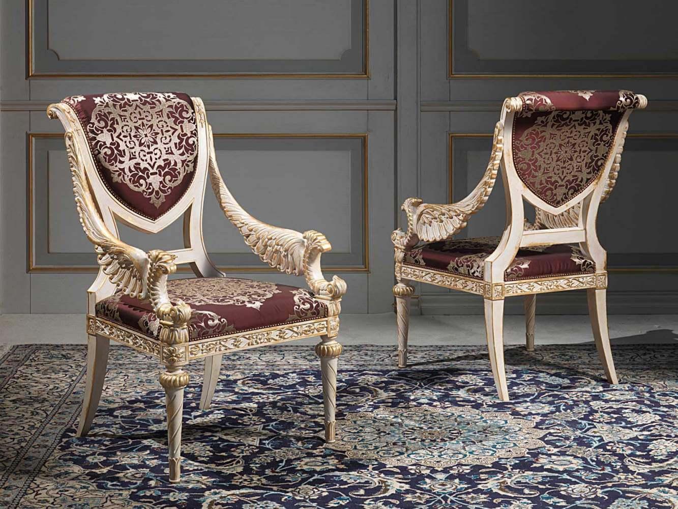 классический стул с подлокотниками