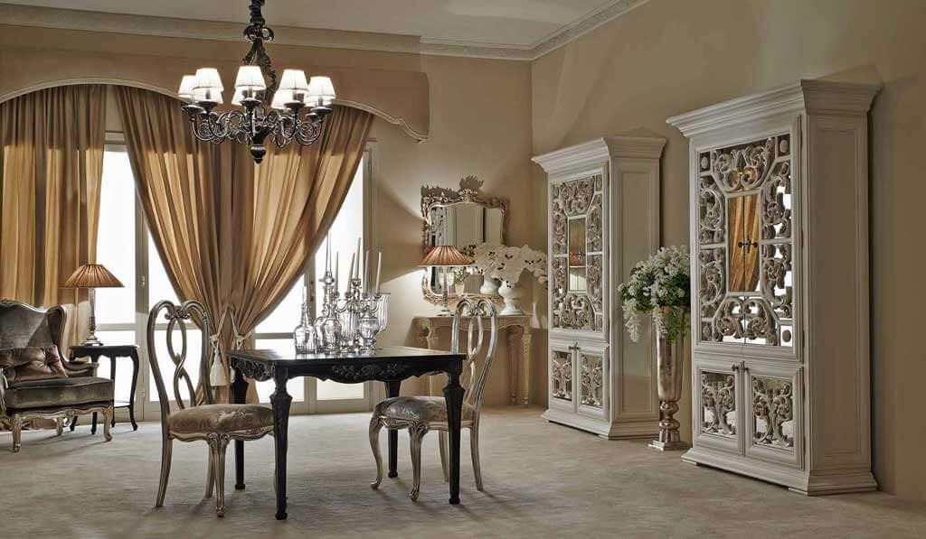 стулья в классическом стиле в интерьере