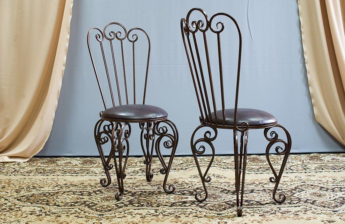 фото кованых стульев