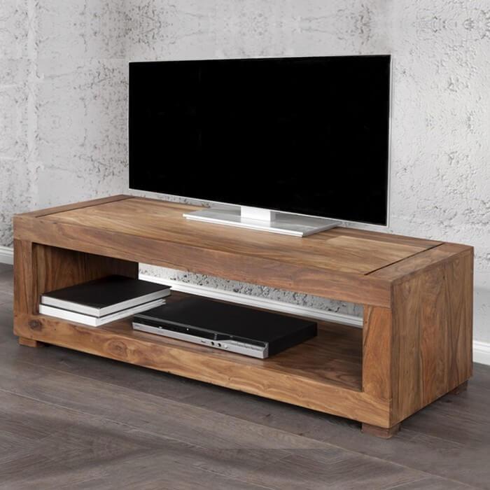 фото деревянной тумбы под телевизор
