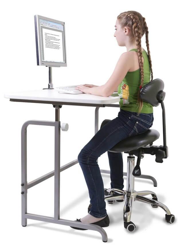 стул-седло со спинкой
