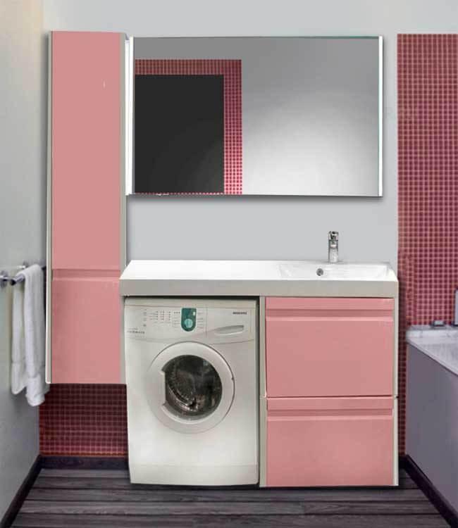 тумба для стиральной машины с открытым фасадом