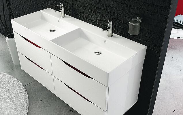 фото двойной раковины для ванной комнаты