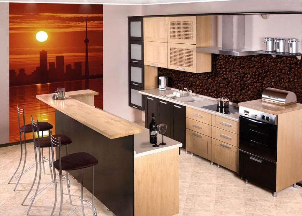 фото барной стойки в интерьере кухни