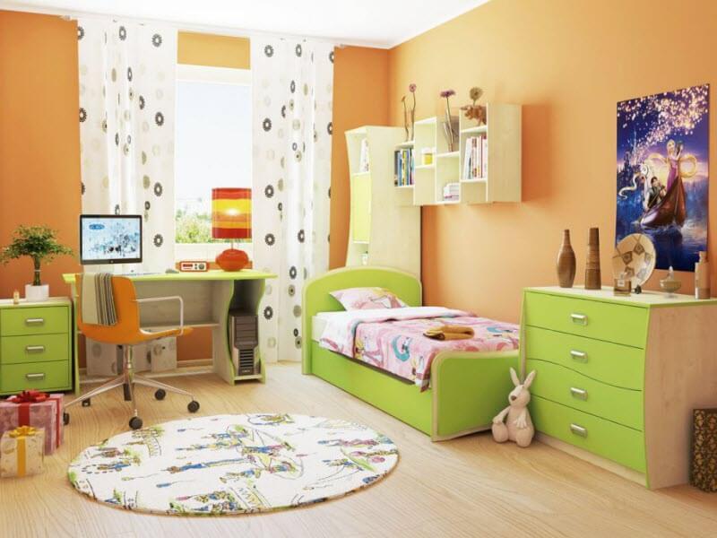 детская комната с комодом в интерьере