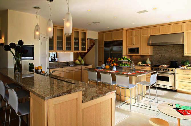кухонный остров с барной стойкой фото
