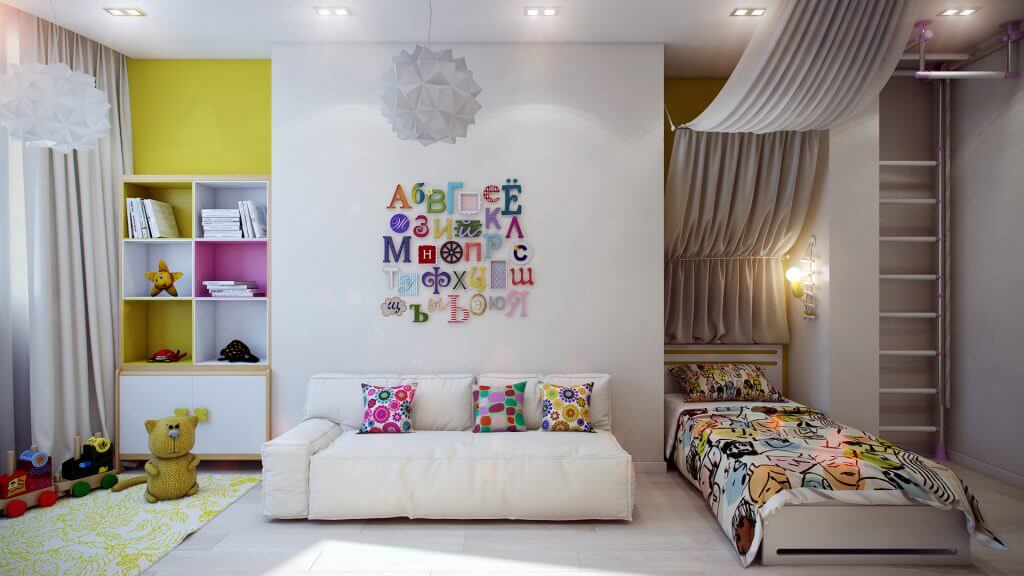 шкаф в интерьере детской комнаты