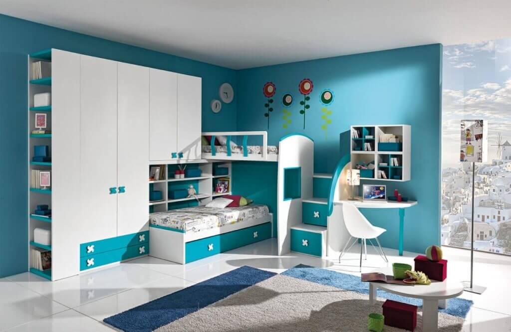 детский мебельный гарнитур с кроватями и шкафами