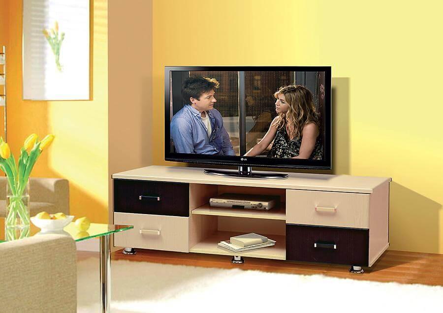 фото ТВ тумбы с ящиками