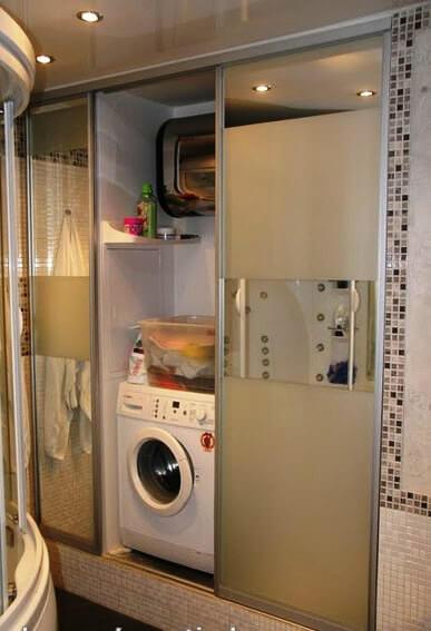 встроенный шкаф купе со стиральной машиной