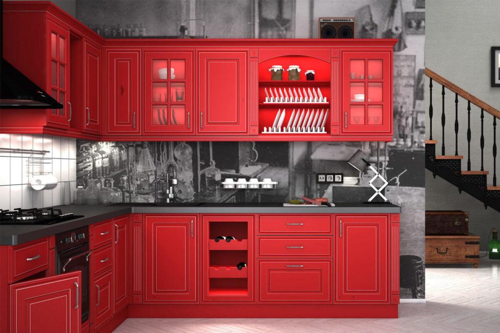 фото кухни с крашенным фасадом